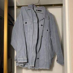 Zara light blue corduroy jacket